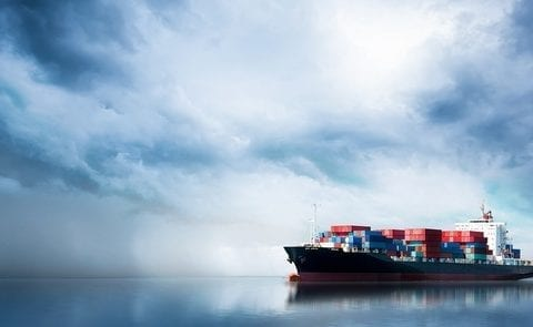 Containerskib, foto: KU, Getty Images